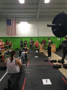 Third workout- Rowing plus hang snatch and overhead squat complex