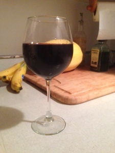 My wine and my dirty kitchen counters... only the best quality pictures for you guys!