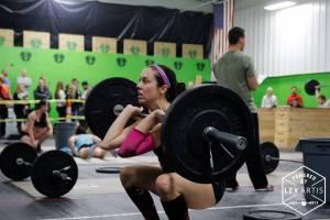 Second workout- Squat Cleans plus double unders (not pictures)