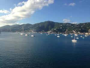Sailing away from beautiful St. Thomas