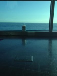 View from yoga... notice the antibacterial wipes- staying clean and germ-free!